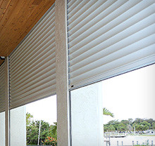Bahama Colonial Accordion Roll Up Shutters