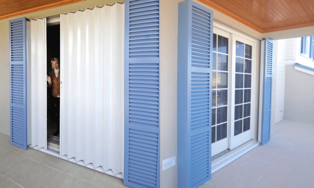 Pocket Accordion Shutters