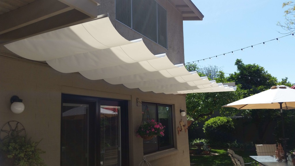 standard white Retractable Canopy