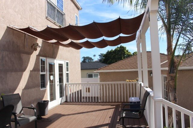 Retractable Canopy brown