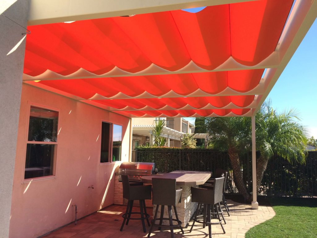 Retractable Canopy red
