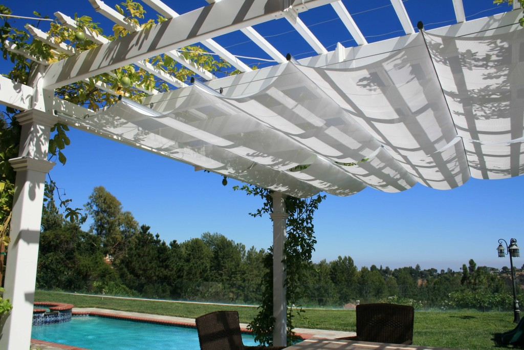 White Retractable Canopy